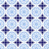 Blue Soft and Dark Beautiful Ornamental Oriental Royal Floral Vintage Spring Abstract Seamless Pattern Texture Wallpaper Stock Images