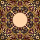 Oriental, ornamental frame. Royalty Free Stock Photo