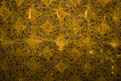 Oriental ornamental mosaic theme. Detail, on the ceiling of a very old Greek-Orthodox church Royalty Free Stock Image