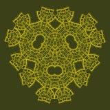 Oriental ornamental triangle mandala of green Stock Image