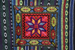 The oriental ornaments. Bedouin bag an embroidered by traditional oriental ornaments . Dahab. Sinai. Egypt Royalty Free Stock Photos