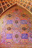 , oriental ornaments from  Nasir al-Mulk mosque, S Royalty Free Stock Photography