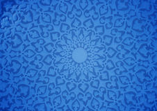 Oriental ornaments. Plaster ceiling,blue version Stock Images