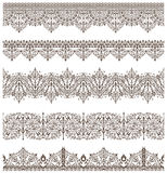 Oriental ornaments vintage design elements Antique Victorian lace borders the Arabian ornaments and curls. Oriental ornaments vintage design elements Royalty Free Stock Images