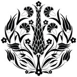 Oriental ottoman design black. Series of patterns designed by taking advantage of the former Ottoman stock illustration