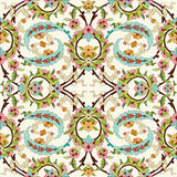 Oriental ottoman design forty. Series of patterns designed by taking advantage of the former Ottoman Stock Images