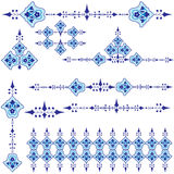 Oriental ottoman design three. Series of patterns designed by taking advantage of the former Ottoman vector illustration