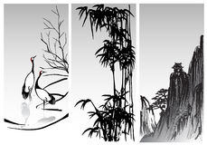 Oriental paintings Royalty Free Stock Photos