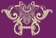Oriental paisley decorative ornament. Vector illustration of paisley ornament. Traditional Eastern Europ style, ornamental floral elements for henna tattoo Royalty Free Stock Photos
