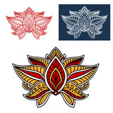 Oriental paisley flower with indian ethnic motif Royalty Free Stock Images