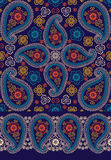 Oriental Paisley seamless  pattern and border set Stock Photo