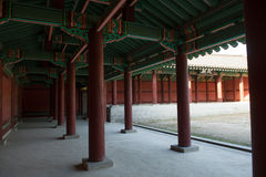 Oriental palace. The ancient palace Changdeokgung Palace in Seoul, Korea Royalty Free Stock Photography