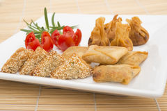 Oriental party snacks Stock Photo