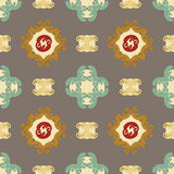 Oriental pattern. Oriental stylization seamless background in brown colors Royalty Free Stock Photo