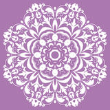Oriental pattern with arabesques and floral elements Royalty Free Stock Images