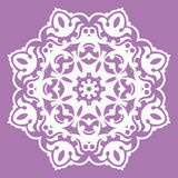 Oriental pattern with arabesques and floral elements Stock Image