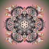 Abstract colored picture. Oriental  pattern with arabesques and floral elements. Traditional classic ornament. Vintage pattern with arabesques Royalty Free Stock Images