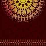 Oriental pattern and background version. Old brown background designed with Ottoman motifs Stock Photography