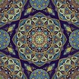 Oriental pattern in blue colors. Stock Photo