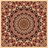 Oriental pattern for carpet. Oriental pattern of mandala. Vector background. Template for textile, carpet, cushion, shawl Royalty Free Stock Photography