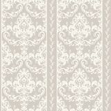 Oriental pattern with damask, arabesque and floral elements. Seamless abstract background Stock Photography