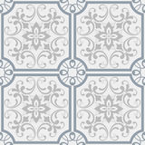 Oriental pattern with damask, arabesque and floral elements. Seamless abstract background. Royalty Free Stock Photo
