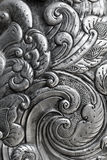Engraving on silver, background Stock Image