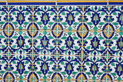 Oriental pattern on the finishing tile. Beautiful oriental pattern on the finishing tile Stock Photos