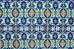 Oriental pattern on the finishing tile Stock Image