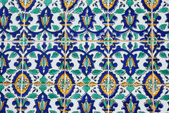 Oriental pattern on the finishing tile Royalty Free Stock Photos