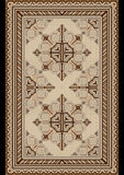 Oriental pattern for light carpet with beige and brown shades Stock Images