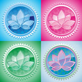 Oriental pattern with lotus Stock Image
