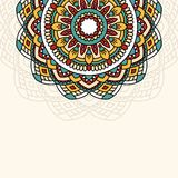 Oriental pattern with mandala.. Stock Images