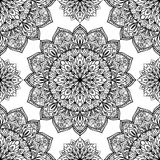 Oriental pattern of mandalas. The template for the surface. Seamless  background with intricate ornaments. Oriental pattern of mandalas Stock Photos