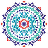 Oriental pattern and ornaments_01. Colorful circular pattern of elegant oriental studies Royalty Free Stock Images