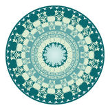 Oriental pattern and ornaments 06. Colorful circular pattern of elegant oriental studies Royalty Free Stock Photos