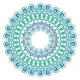 Oriental pattern and ornaments 07. Colorful circular pattern of elegant oriental studies royalty free illustration