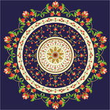 Oriental pattern and ornaments. Colorful circular pattern of elegant oriental studies Royalty Free Stock Photography