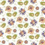 Oriental Seamless Pattern FOLK ORNAMENT Color Vector Illustration Stock Photo