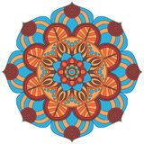 Oriental pattern. Traditional round coloring ornament. Mandala. Royalty Free Stock Photos