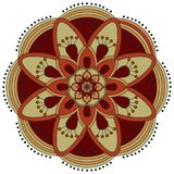 Oriental pattern. Traditional round coloring ornament. Mandala. Stock Photos