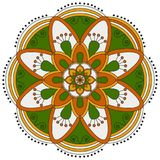Oriental pattern. Traditional round coloring ornament. Mandala. Stock Photo