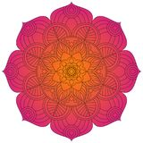 Oriental pattern. Traditional round coloring ornament. Mandala. Stock Images