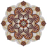 Oriental pattern. Traditional round coloring ornament. Mandala. Stock Photography
