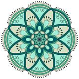 Oriental pattern. Traditional round coloring ornament. Mandala. Royalty Free Stock Image