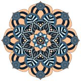 Oriental pattern. Traditional round coloring ornament. Mandala. Royalty Free Stock Images
