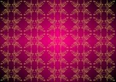 Oriental patterns on a violet background. Seamless floral pattern. Royalty Free Stock Photo