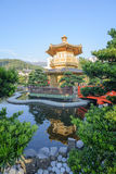 The oriental pavilion of absolute perfection in Nan Lian Garden, Chi Lin Nunnery Royalty Free Stock Photos