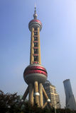 Oriental pearl. Tower in Shanghai Stock Images