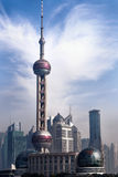 Oriental Pearl. One of the highest building in Shanghai, China Royalty Free Stock Photography